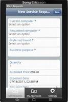 Screenshot of BMC Requests