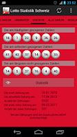 Screenshot of Lotto Statistik Schweiz