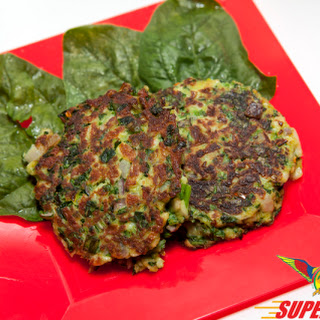 Spinach Crab Cakes.