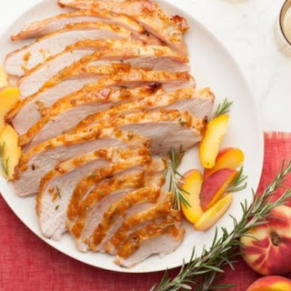 Roasted Turkey Breast with Peach Rosemary Glaze