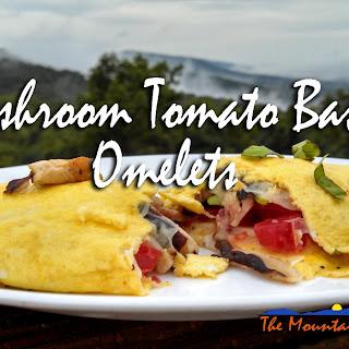 Mushroom Tomato Basil Omelets