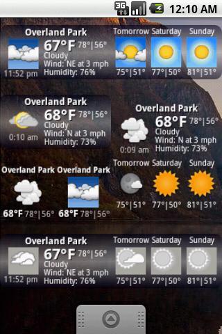 Androidlet Weather Widget- screenshot