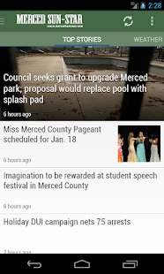 Merced Sun-Star, CA newspaper - screenshot thumbnail