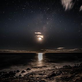 Moonrise by Jane Chen - Landscapes Beaches