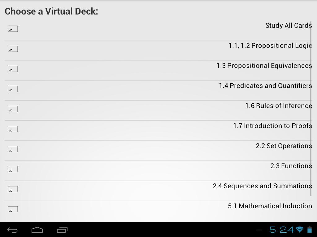 VirtualDeck Flashcards Free - screenshot