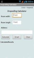 Screenshot of DropCeiling Calculator