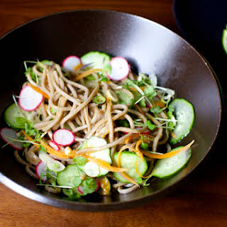 Cold Noodles with Miso, Lime and Ginger.