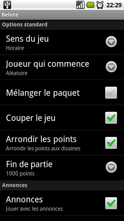 French Belote - screenshot