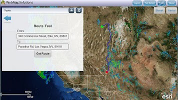 Screenshot of GeoMobile for ArcGIS