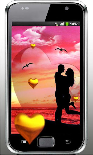 Love Sunset HD live wallpaper