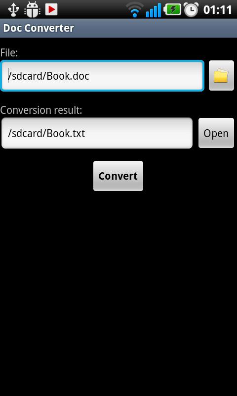 Doc Converter - screenshot