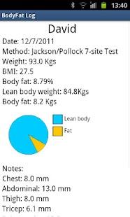 BodyFat Log- screenshot thumbnail