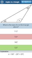 Screenshot of GCSE Maths Geometry Revision L