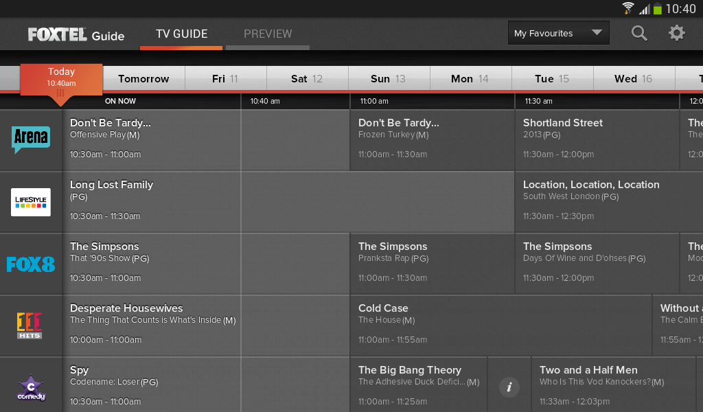 how to change foxtel channel on app