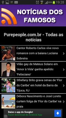 Notícias dos Famosos - screenshot