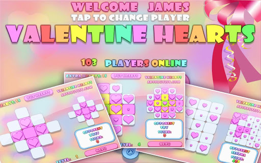 Valentine Hearts:Match3 Puzzle