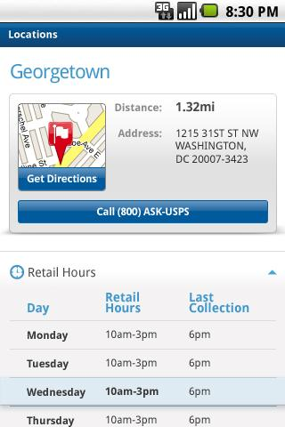 USPS MOBILE® - screenshot