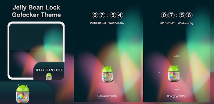 Jelly Bean Lock GoLocker Theme
