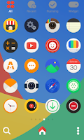 Screenshot of ColorRound LINE Launcher theme