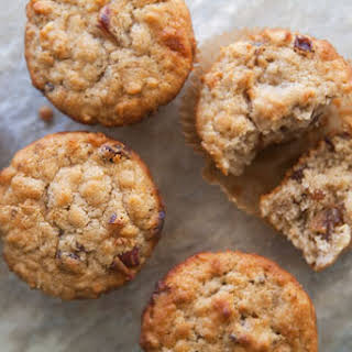 Oatmeal Muffins with Raisins, Dates, and Walnuts.