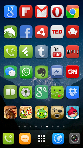 GO Launcher EX UI5.0 theme 2.08 screenshots 8