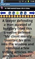 Screenshot of Lawyer Jokes