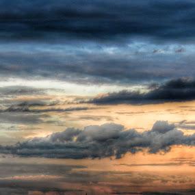 Rainy Clouds Threat Sunset by Nat Bolfan-Stosic - Landscapes Sunsets & Sunrises ( clouds, sky, rainy, sunset, storm,  )