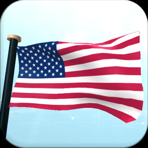 美國旗3D動態桌布 LOGO-APP點子