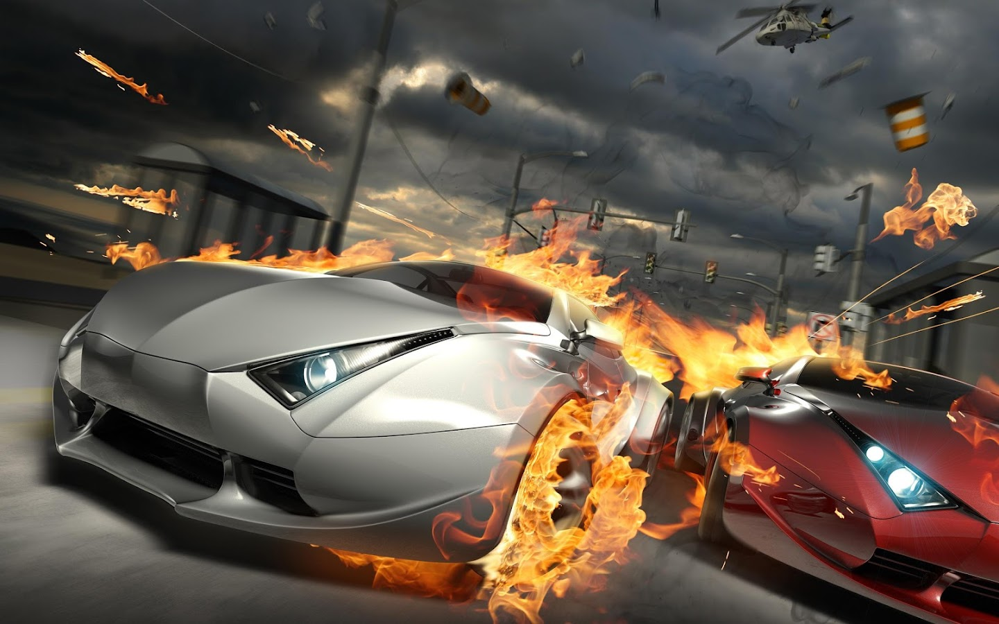 Speed racing car - screenshot