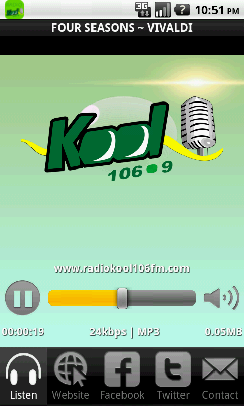 Kool 106.9 FM- screenshot