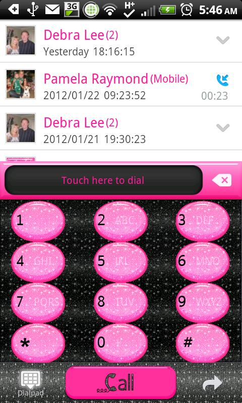 GO CONTACTS - Blk Glit Pink- screenshot