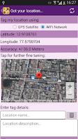 Screenshot of GPS Location Tagging - TagMe