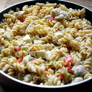 Chicken Rotini Stovetop Casserole.