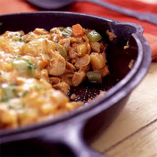 Barbecued Chicken Hash.