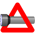 Torch and warning light icon