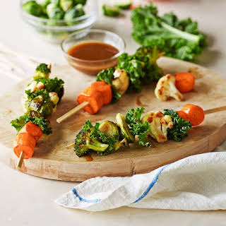 Roasted Vegetable and Kale Salad Sticks.