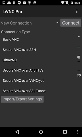 android bVNC Pro: Secure VNC Viewer Screenshot 9