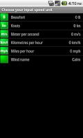 Screenshot of Marine Wind Calculator