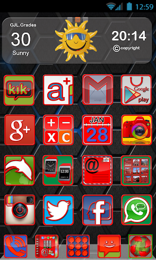 GLE theme Red Frame Colorful