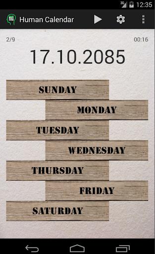 Human Calendar