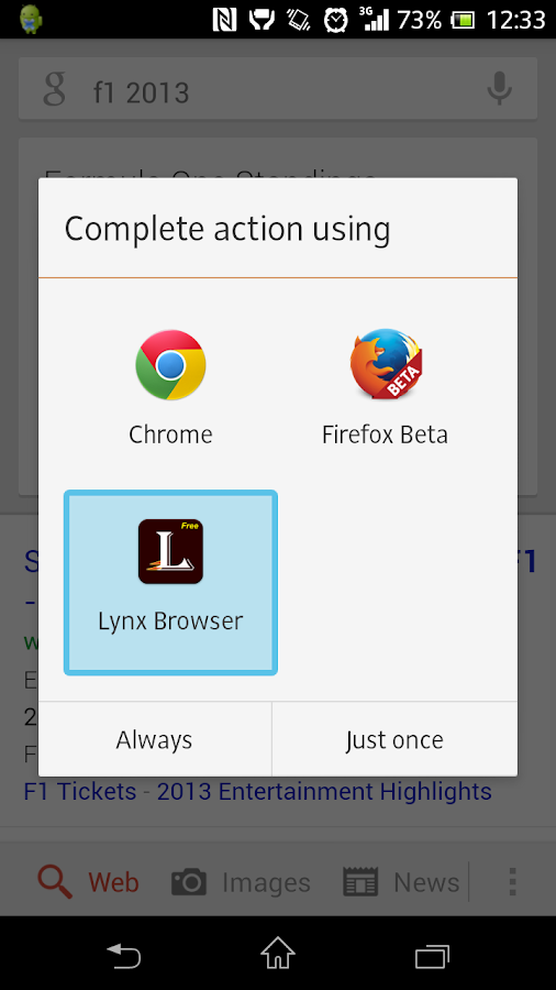 Lynx Web Browser (Free) - screenshot