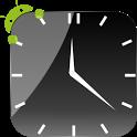 Crystal Black Clock Widget icon