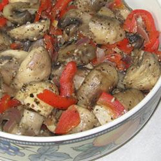 Marinated Mushrooms with Red Bell Peppers