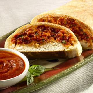 Chicken Parmesan Stromboli.
