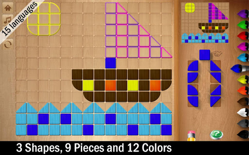 Shapes Mosaic Puzzle for Kids