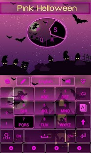 Pink-Halloween-Keyboard-Theme 4
