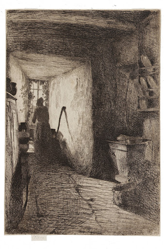 The Kitchen, one of the Twelve Etchings from Nature (the French Set)