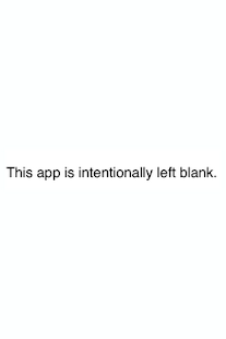 App Intentionally Left Blank - screenshot thumbnail