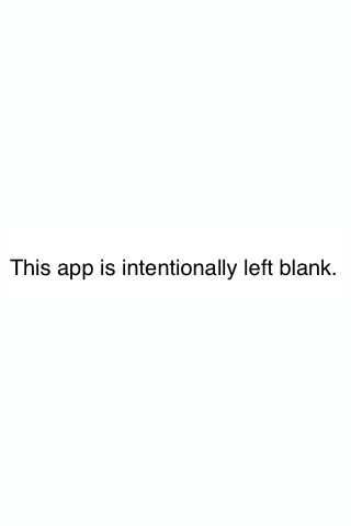 App Intentionally Left Blank - screenshot