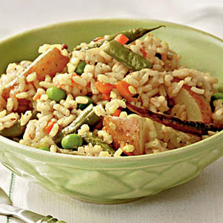 Mixed Vegetable and Rice Pilaf.